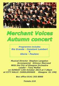 Merchant Voices autumn concert 2014